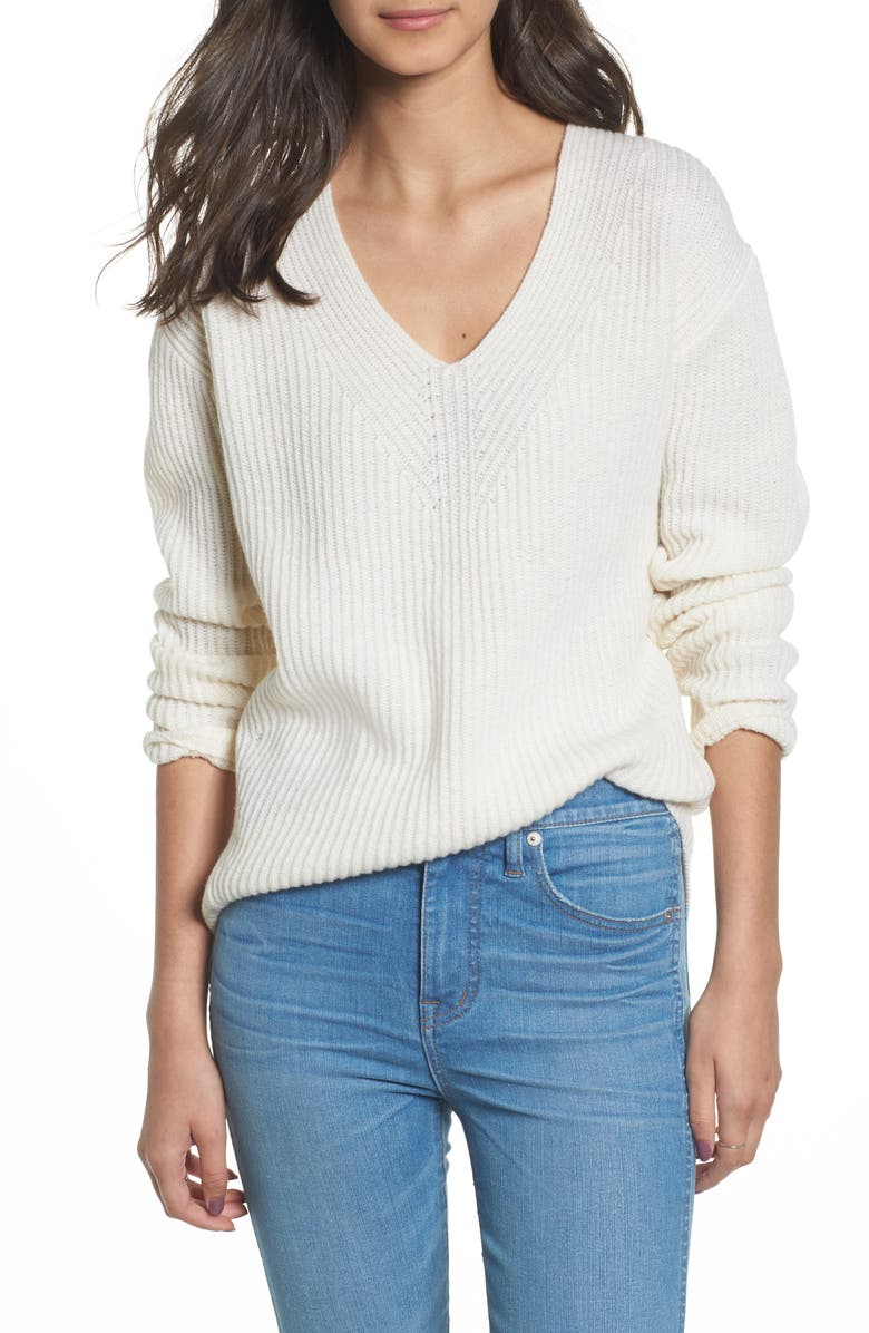 MADEWELL Woodside Pullover Sweater, Main, color, 101