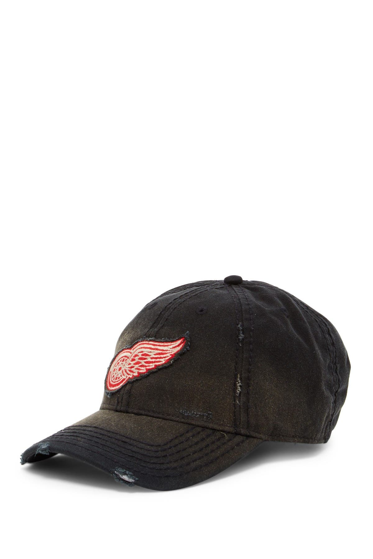 Image of American Needle NHL Detroit Red Wings Nero Logo Baseball Cap