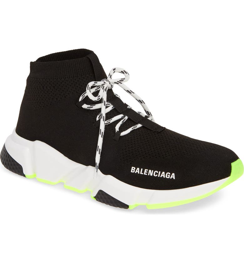 BALENCIAGA Speed Sneaker, Main, color, BLACK/BLACK