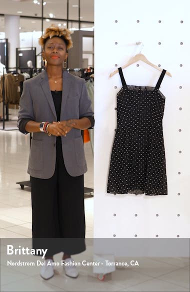 Bird's Eye Dot Fit & Flare Dress, sales video thumbnail