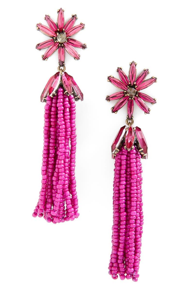 BAUBLEBAR Monet Tassel Drop Earrings, Main, color, 600