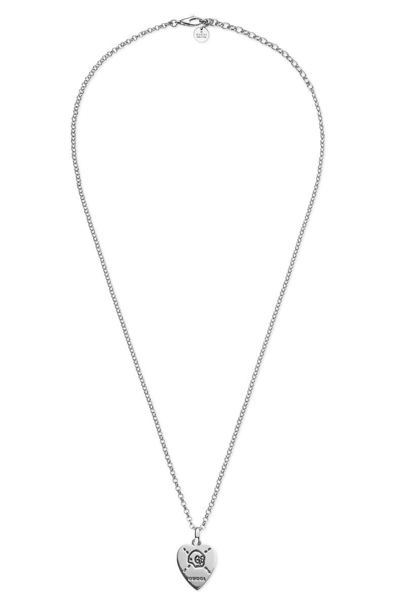 GUCCI Ghost Pendant Necklace, Main, color, 040