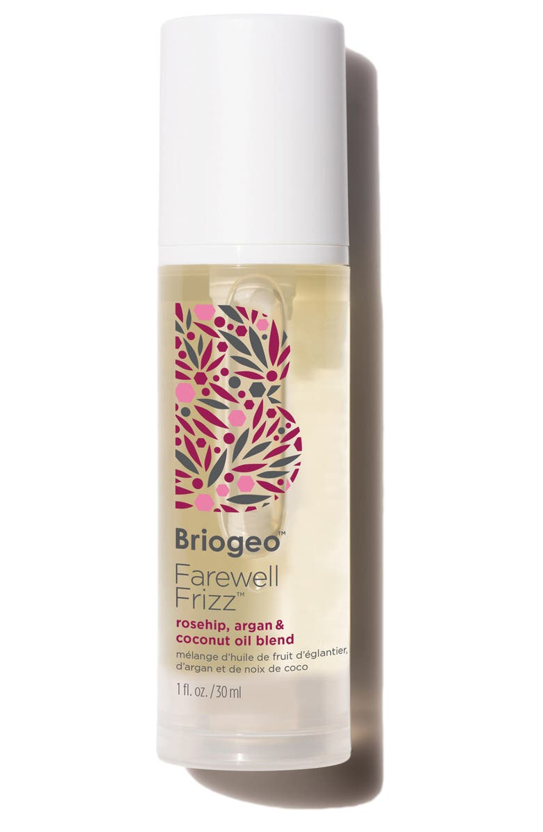 BRIOGEO Farewell Frizz Rosehip, Argan & Coconut Oil Blend, Main, color, NO COLOR