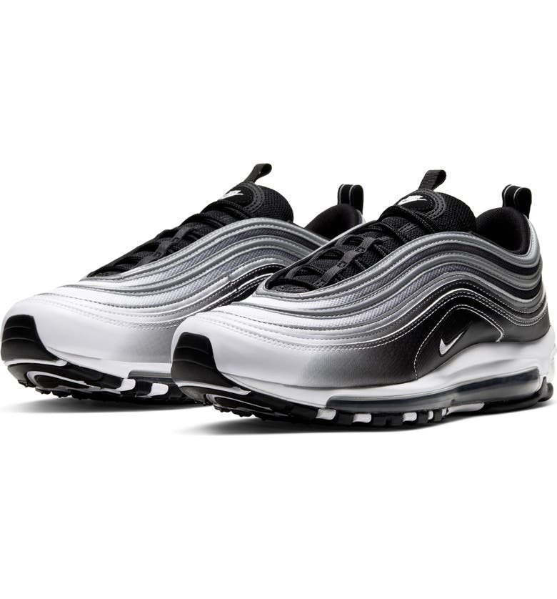 NIKE Air Max 97 Sneaker, Main, color, BLACK/ SILVER/ WHITE