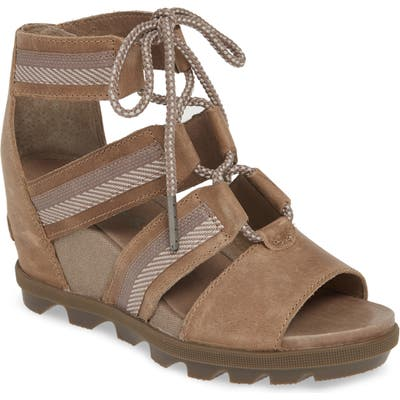 Sorel Joanie Ii Ghillie Lace Sandal, Brown