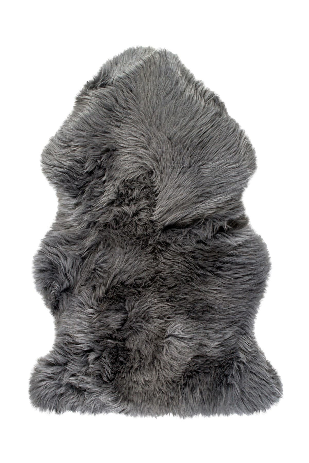 Image of Natural New Zealand Genuine Sheepskin Throw - 2ft x 3ft - Grey