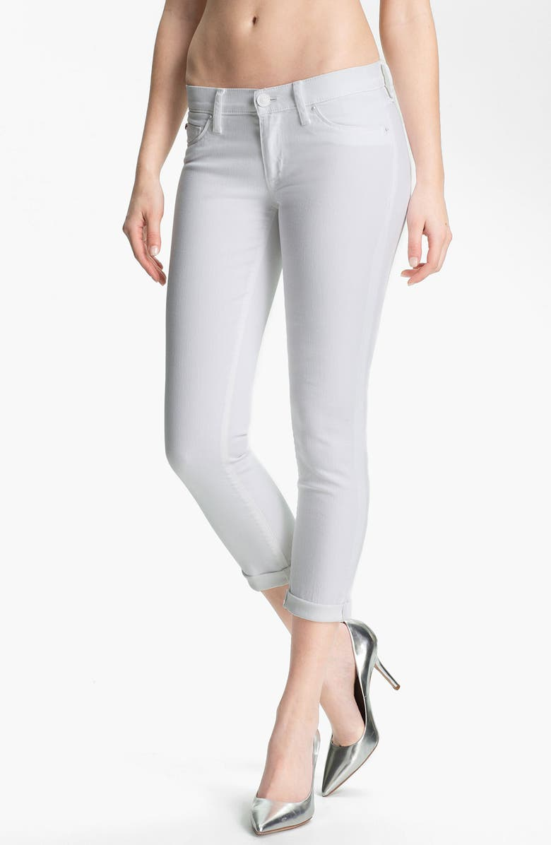 HUDSON JEANS 'Collette' Cuff Skinny Jeans, Main, color, 100