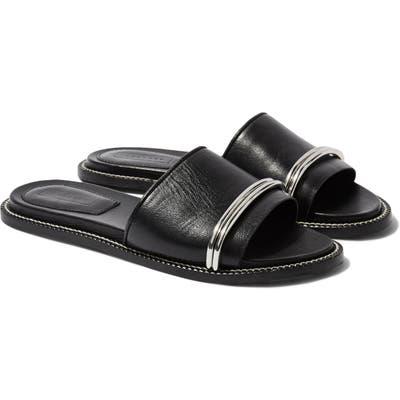 Topshop Flash Bar Slide Sandal - Black