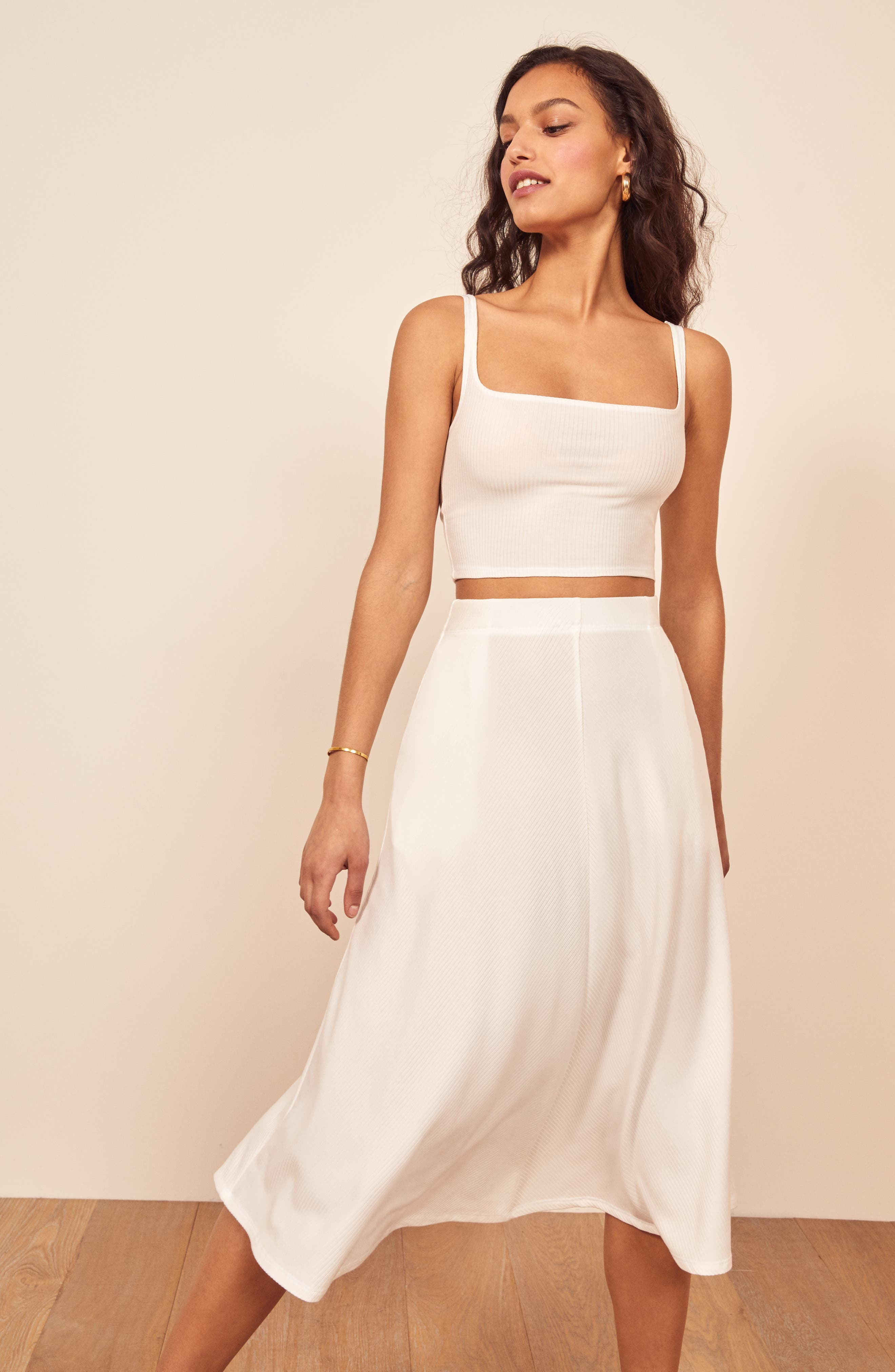 Reformation Molly Two-Piece Dress, White
