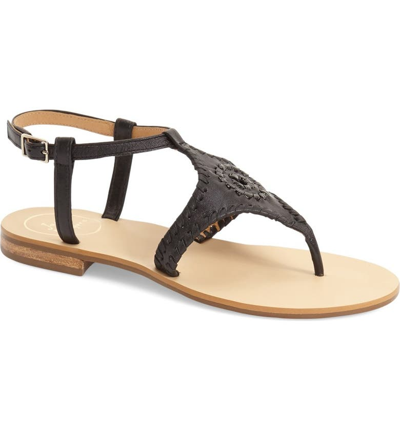 JACK ROGERS 'Maci' Flat Sandal, Main, color, 004