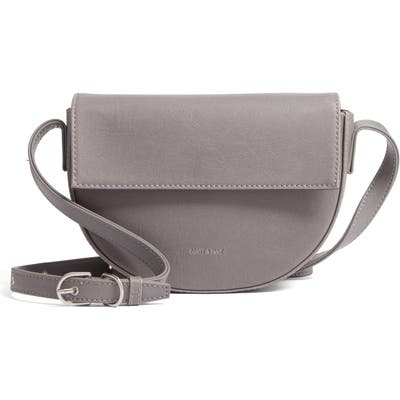 Matt & Nat Rith Vintage Collection Faux Leather Saddle Bag - Grey