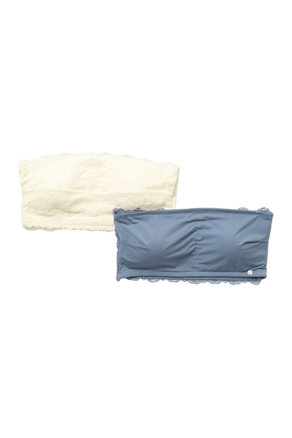Lucky Brand Crochet Lace Strapless Bandeau - Pack of 2