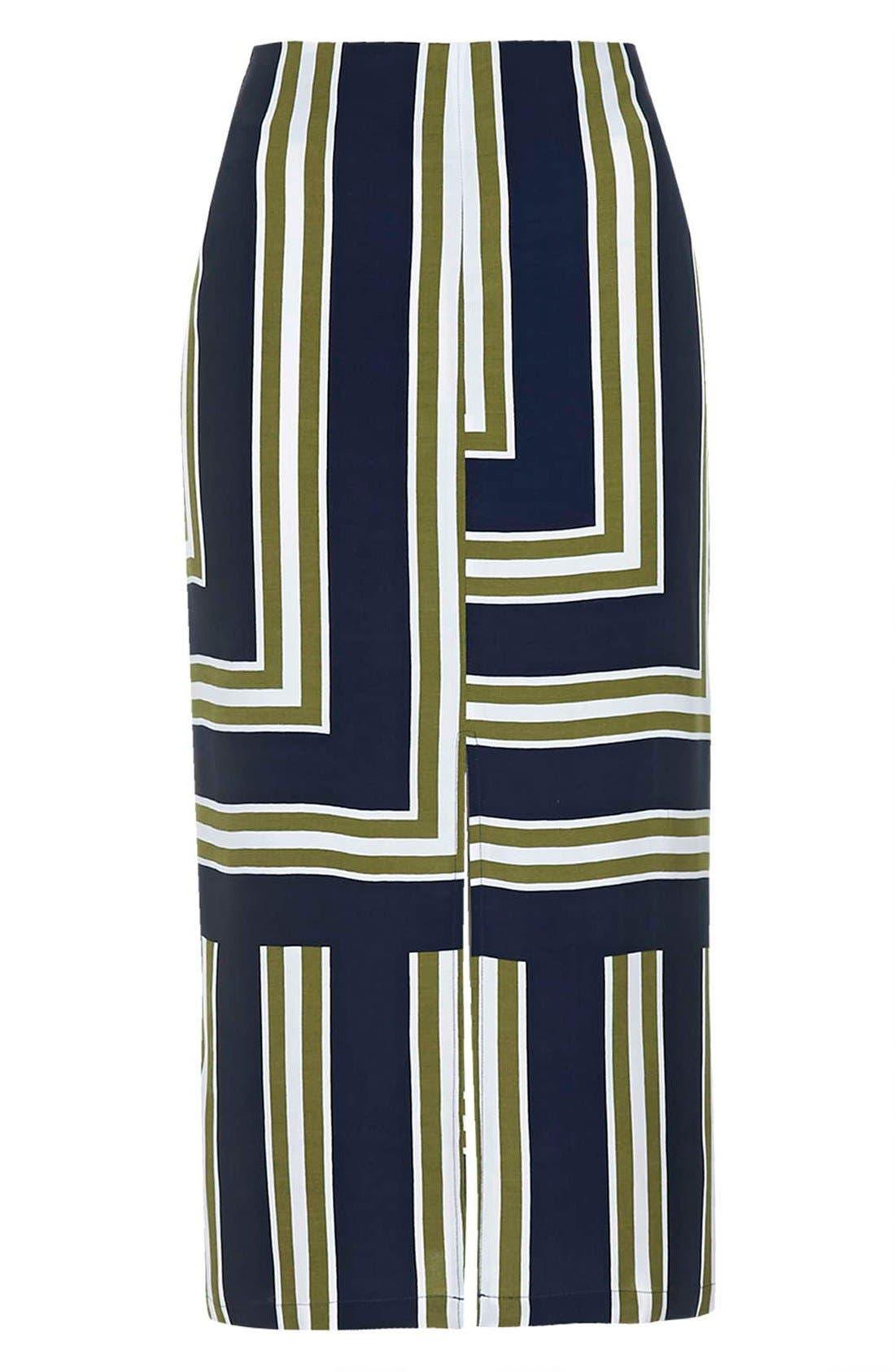 ,                             Slit Midi Skirt,                             Alternate thumbnail 4, color,                             410