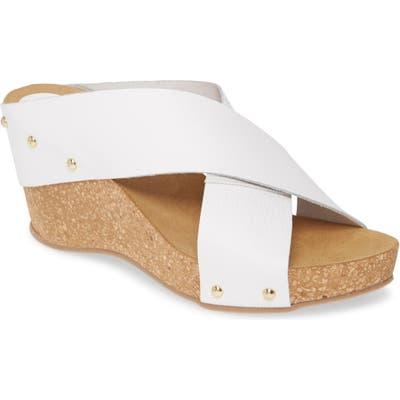 Carvela Comfort Wedge Slide Sandal, White
