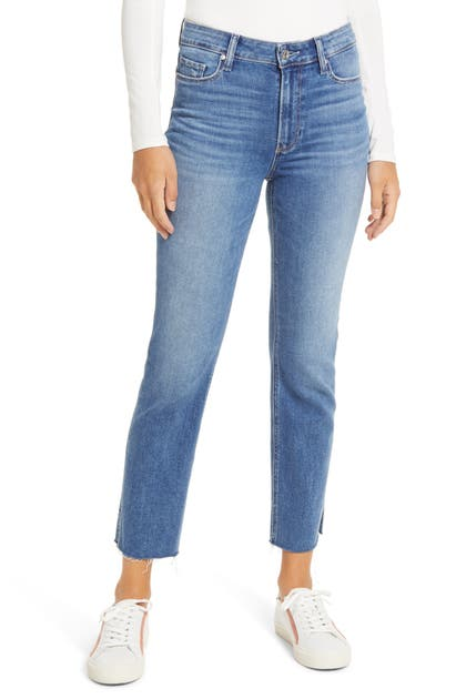 Paige CINDY SPLIT RAW HEM STRAIGHT LEG JEANS
