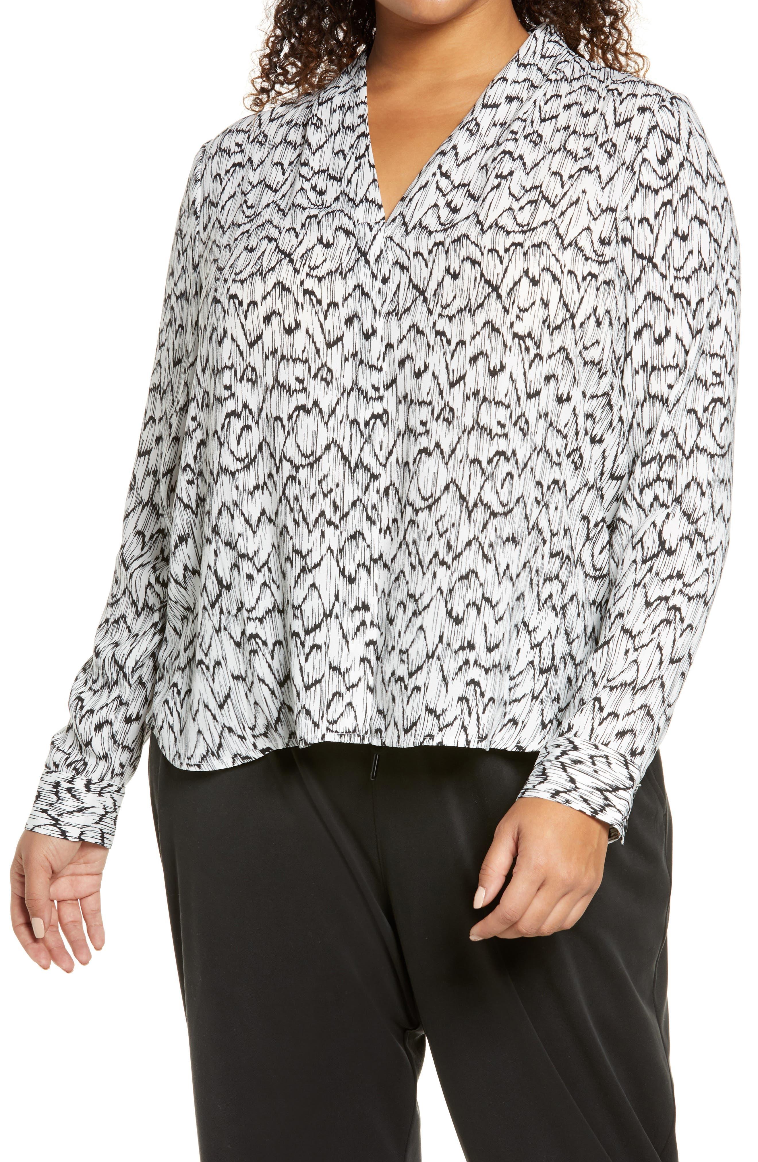 Plus Size Women's Halogen V-Neck Top