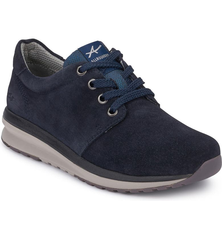 ALLROUNDER BY MEPHISTO Kyra Sneaker, Main, color, DRESS BLUE SUEDE