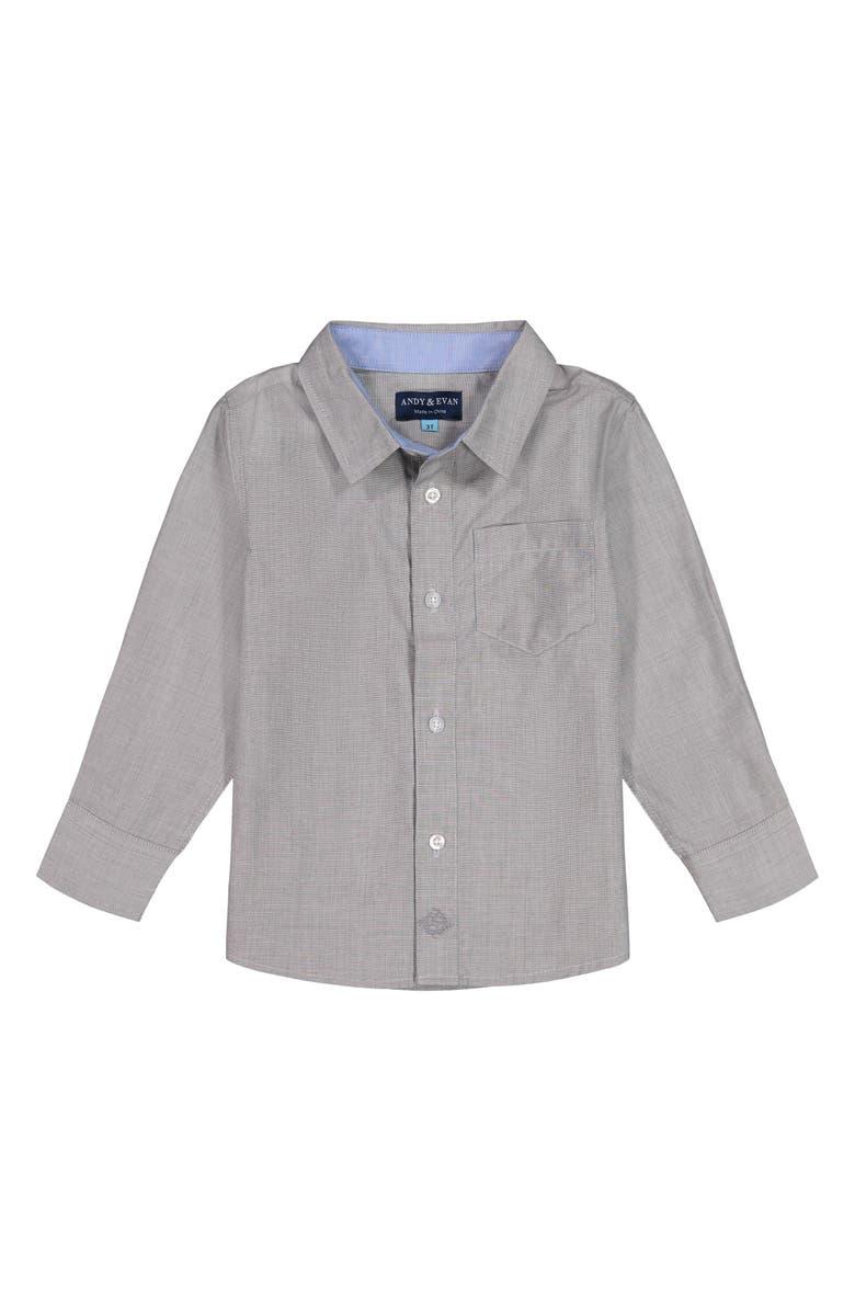 ANDY & EVAN Sport Shirt, Main, color, GREY