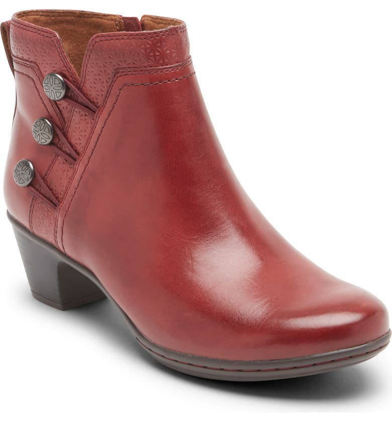 ROCKPORT COBB HILL Kailyn Bootie, Main, color, RED