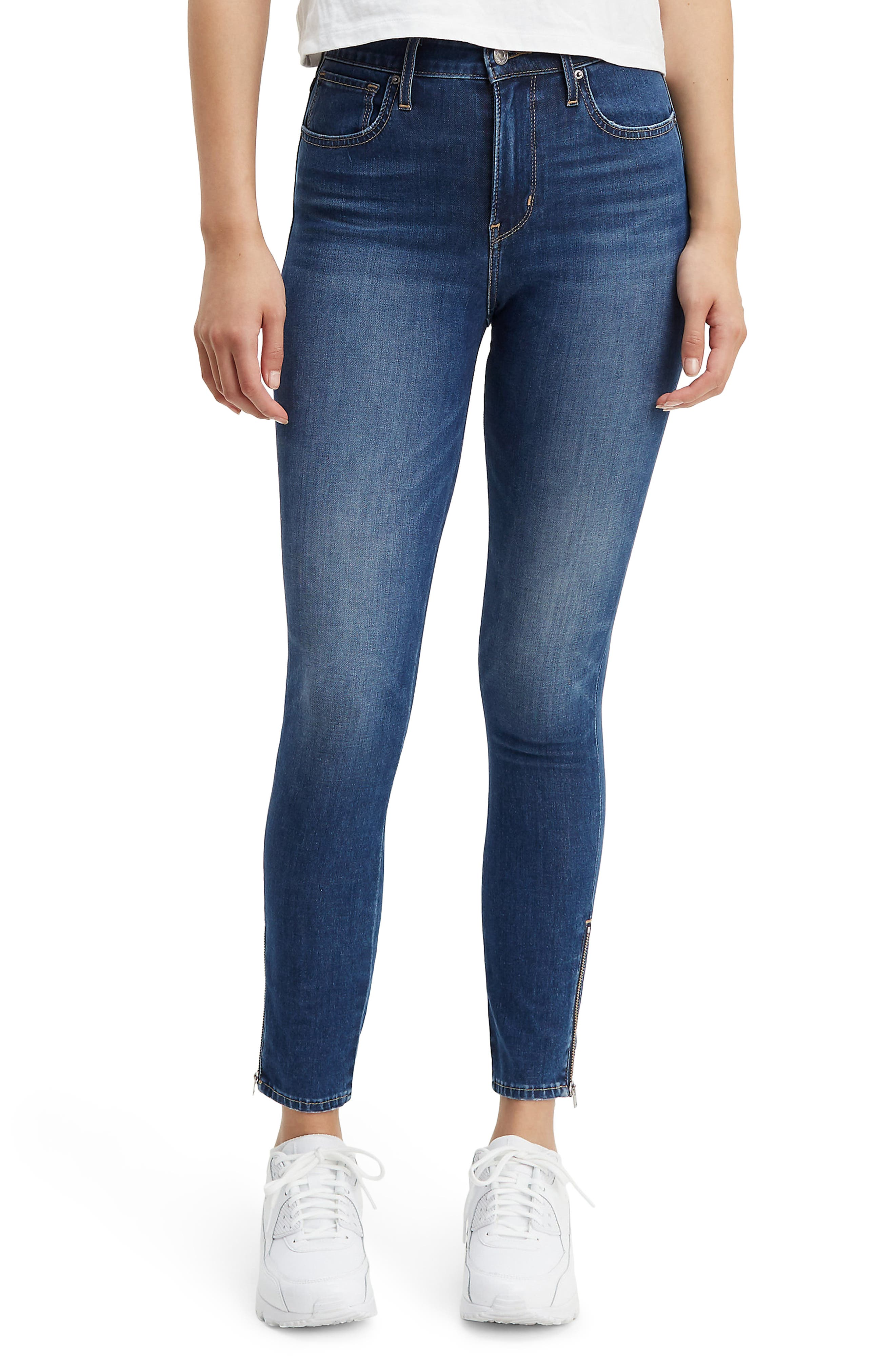 ,                             721<sup>™</sup> High Waist Ankle Zip Skinny Jeans,                             Main thumbnail 1, color,                             UNDER THE WIRE