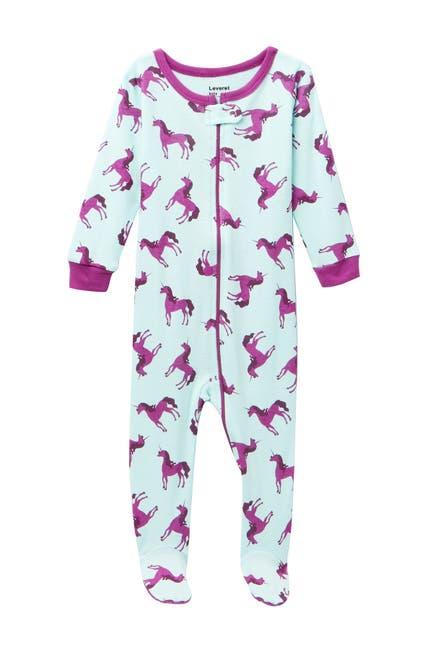 Image of Leveret Unicorn Footed Pajama Sleeper