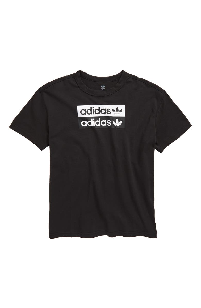 ADIDAS ORIGINALS adidas V-Ocal Graphic T-Shirt, Main, color, BLACK/ WHITE