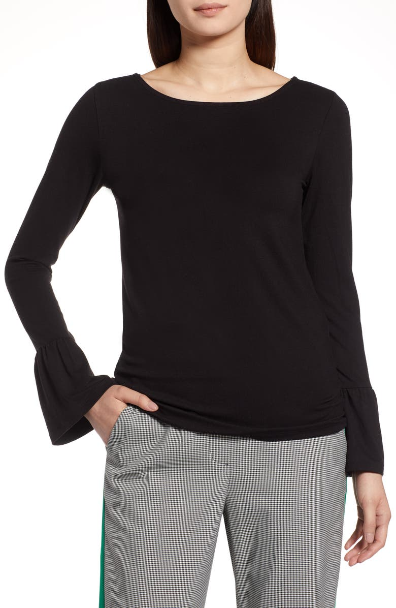 HALOGEN<SUP>®</SUP> Bell Sleeve Knit Top, Main, color, 001