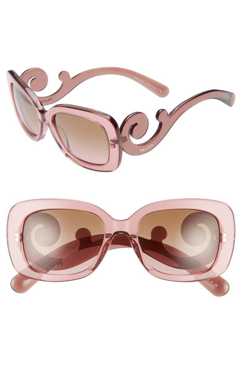 PRADA 'Baroque' 54mm Sunglasses, Main, color, 650