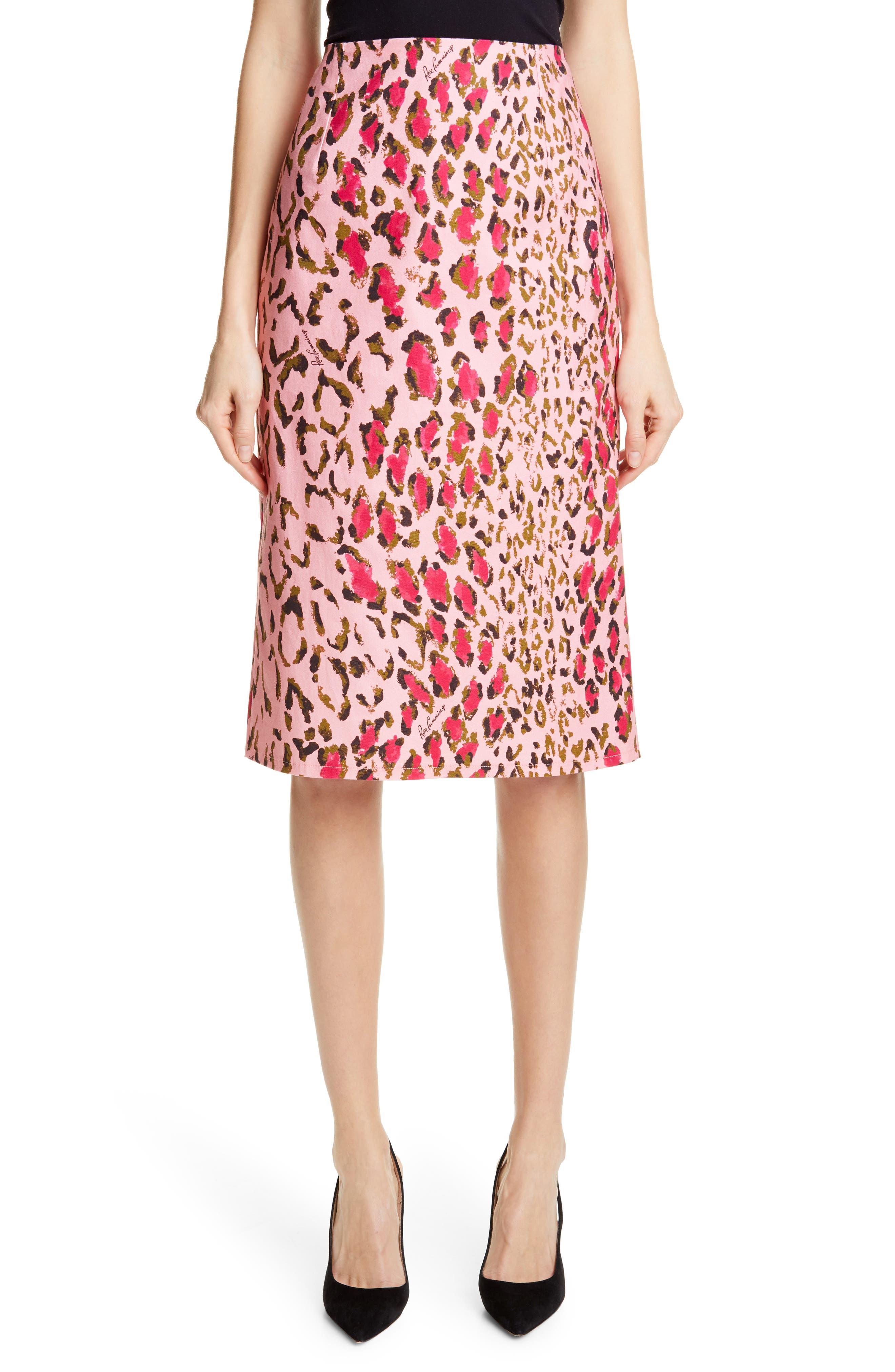 Carolina Herrera Leopard Print Pencil Skirt | Nordstrom
