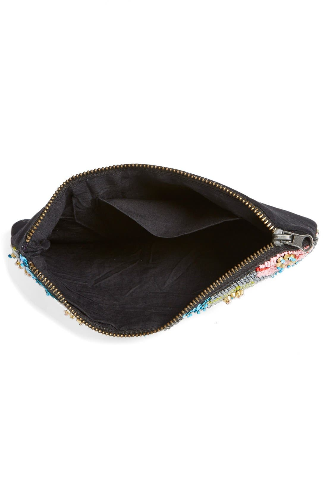 ,                             Natasha Couture Beaded Floral Clutch,                             Alternate thumbnail 2, color,                             650