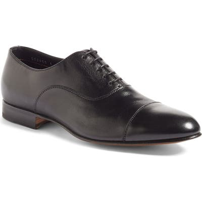 Santoni Darian Cap Toe Oxford EE - Black