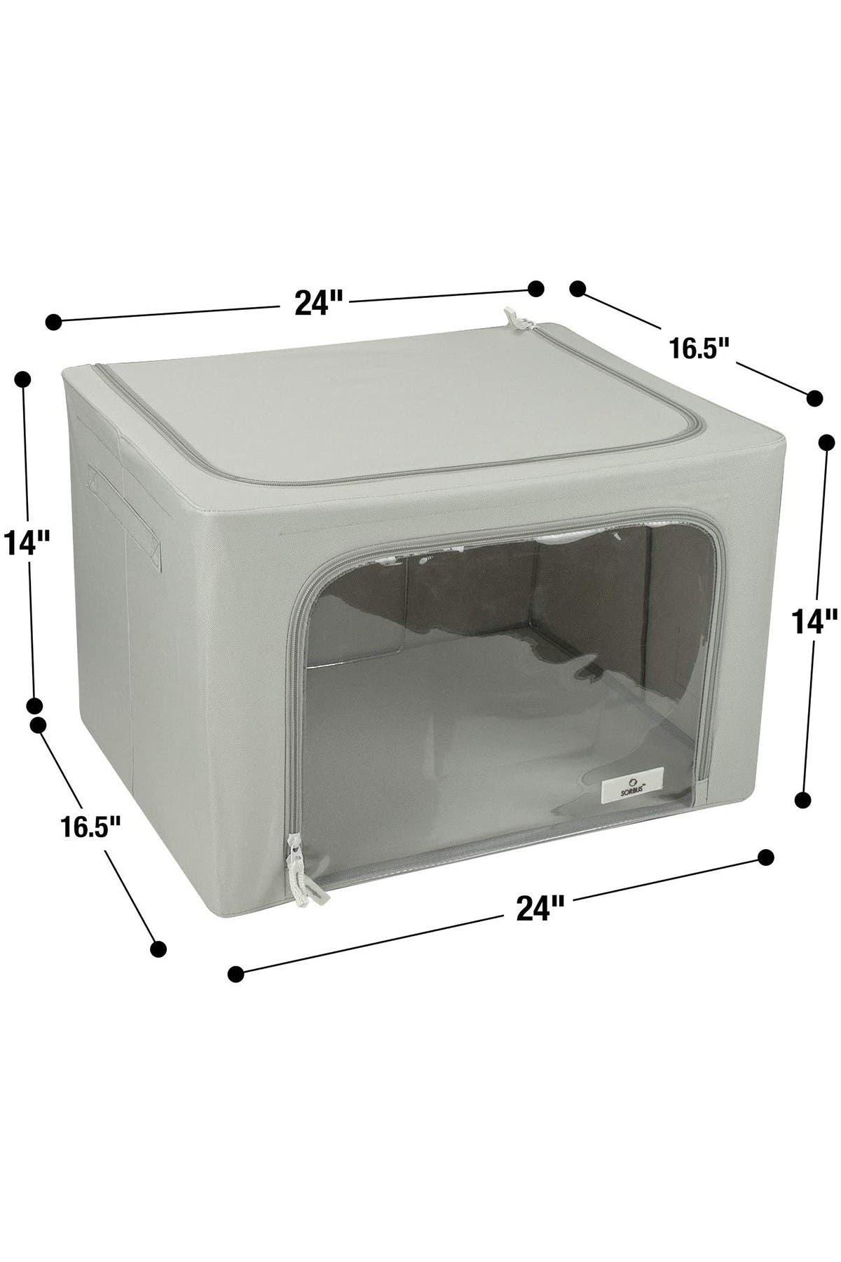 Image of Sorbus Foldable Storage Box Organizer - Gray - Large - Set of 2