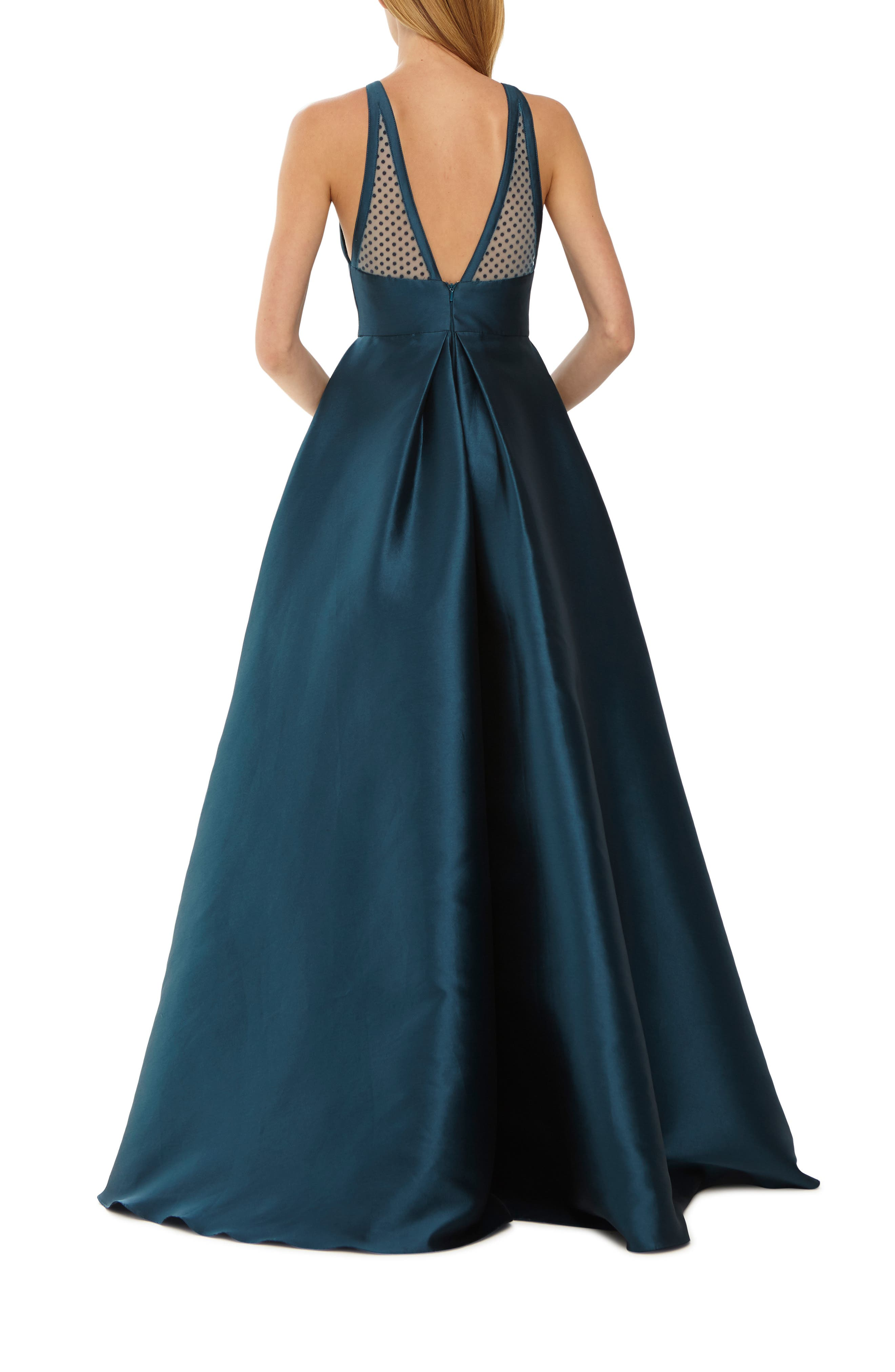 ,                             Mesh Inset Ball Gown,                             Alternate thumbnail 2, color,                             440