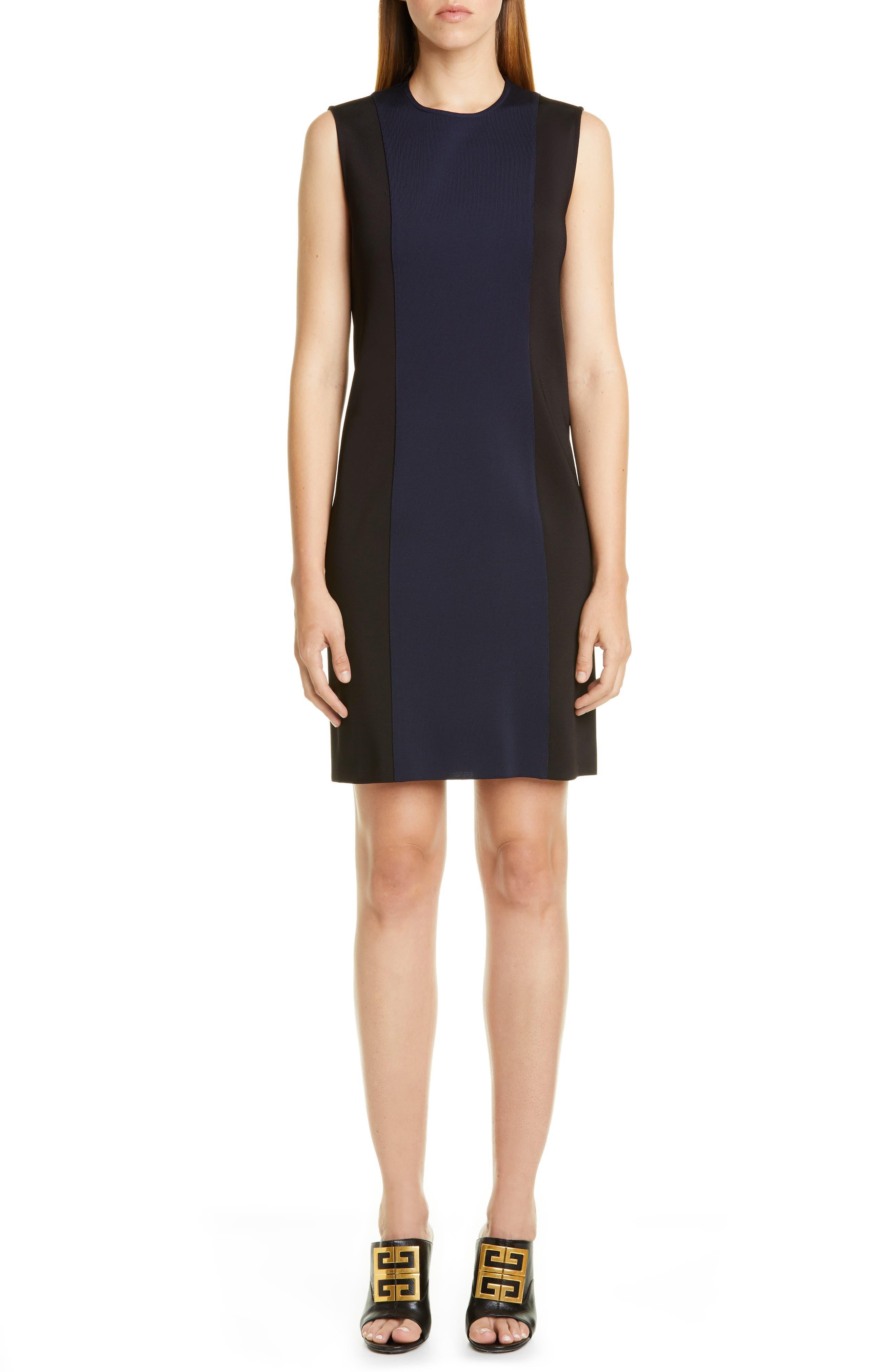 Givenchy Two-Tone Punto Milano Dress, Black