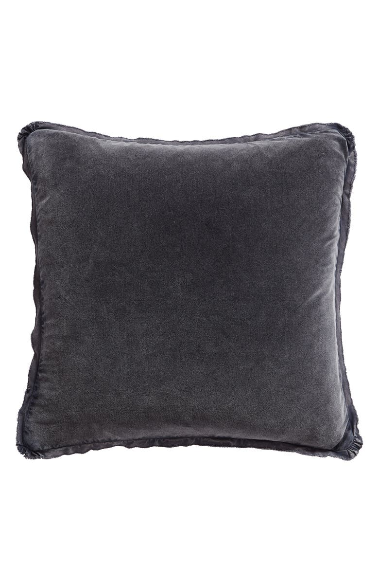 TREASURE & BOND Stonewash Velvet Accent Pillow, Main, color, GREY OWL