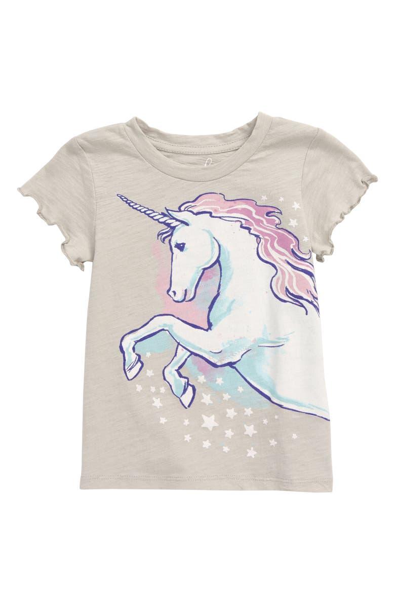 PEEK AREN'T YOU CURIOUS Sparkle Unicorn Graphic Tee, Main, color, GREY HEATHER