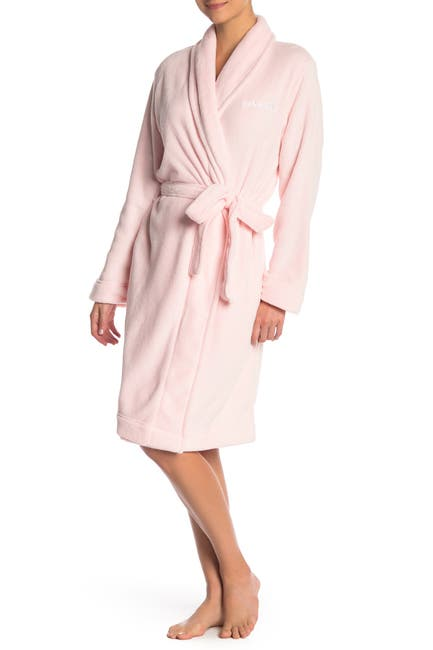 Image of Calvin Klein Plush Shawl Collar Tie Robe