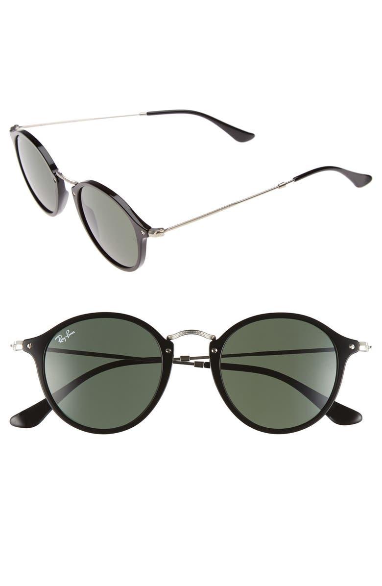 RAY-BAN 49mm Retro Sunglasses, Main, color, 001