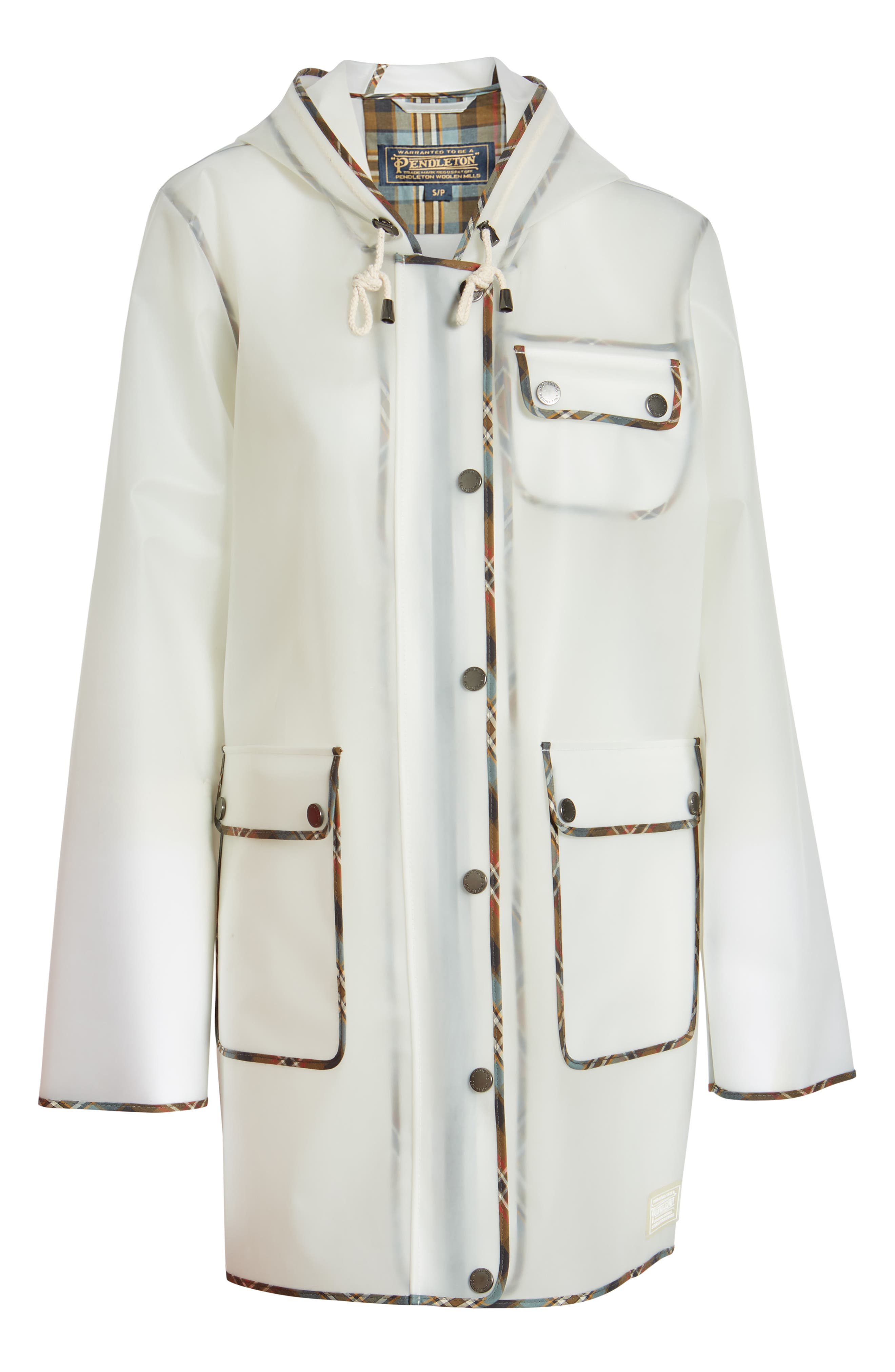 ,                             Manzanita Hooded Rain Jacket,                             Alternate thumbnail 7, color,                             DEW