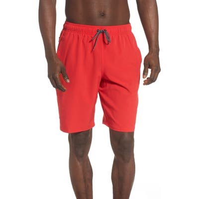 Nike Contend Volley Swim Trunks, Red