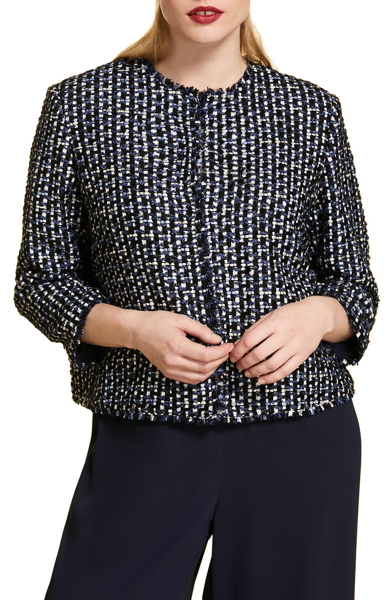 Marina Rinaldi Casanova Crop Tweed Jacket Plus Size