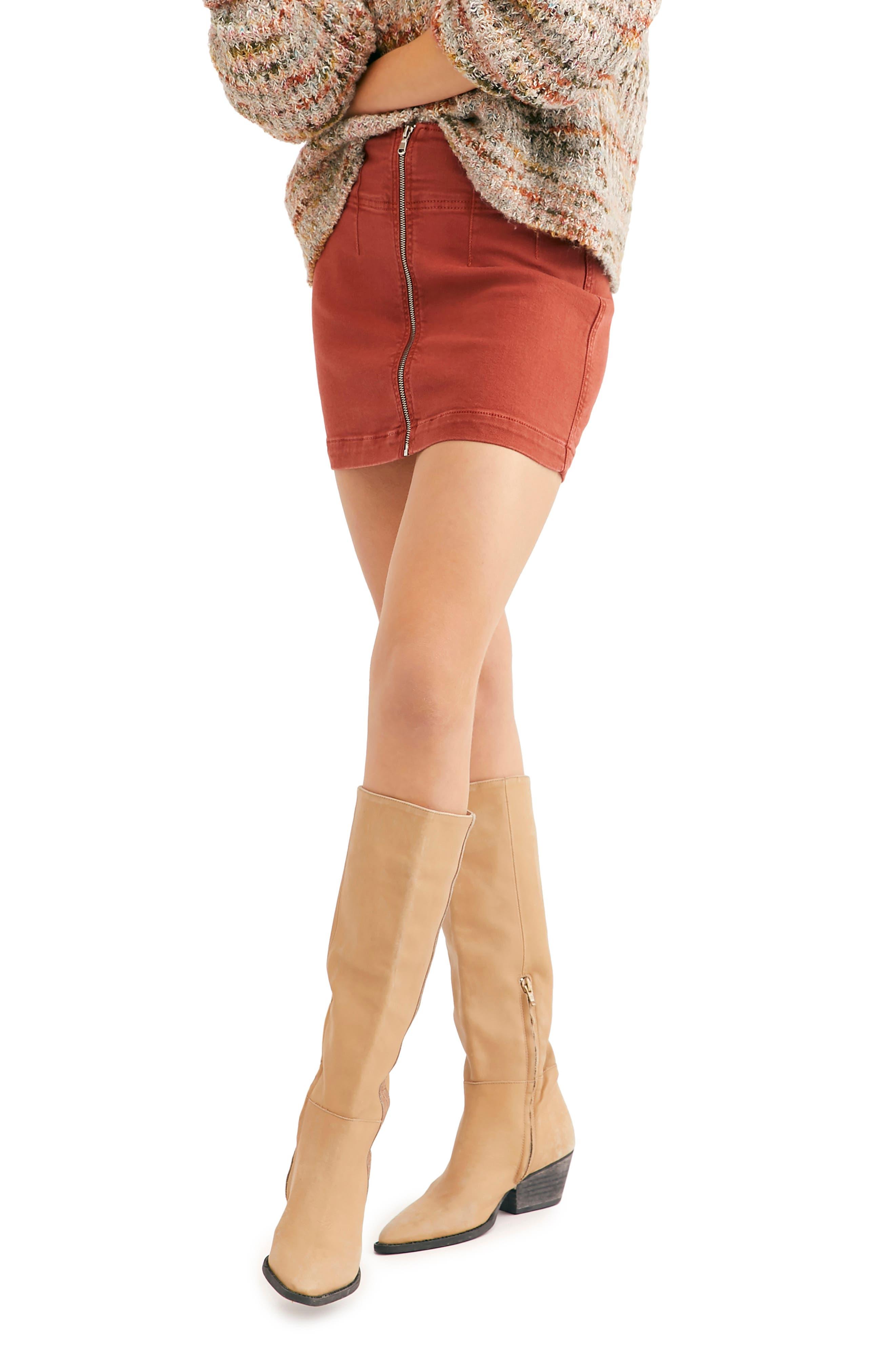 Image of Free People Virgo Mini Skirt