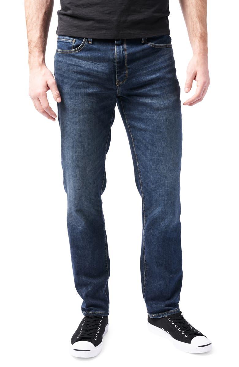 DEVIL-DOG DUNGAREES Slim-Fit Performance Stretch Jeans, Main, color, BURKE