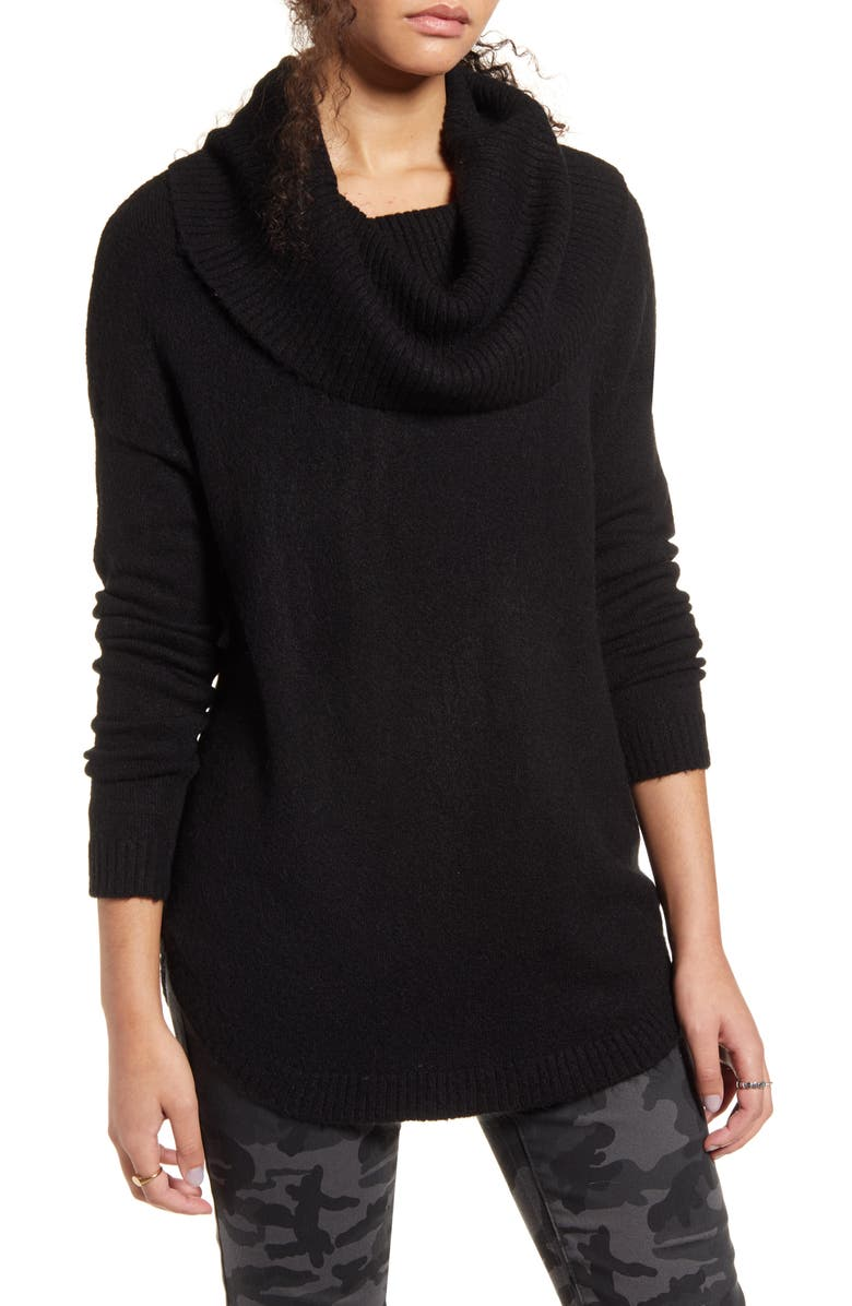 DREAMERS BY DEBUT Cowl Neck Sweater, Main, color, 001