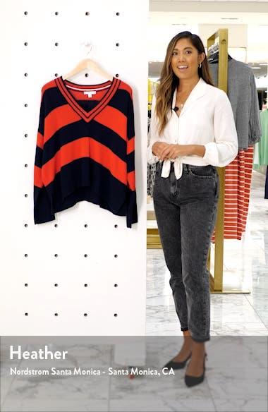 V-Neck Stripe Sweater, sales video thumbnail
