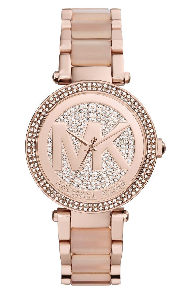 MICHAEL KORS 'Parker' Bracelet Watch,39mm, Main, color, 711