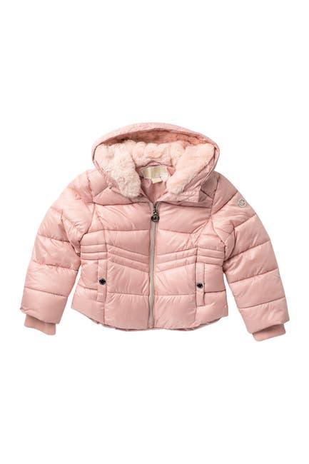 Image of Michael Kors Faux Fur Puffer Jacket