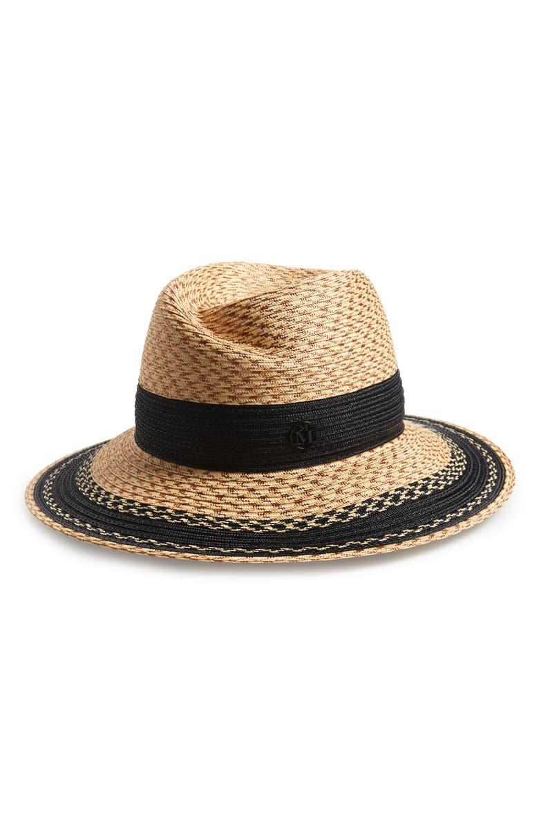 MAISON MICHEL Virginie Straw Hat, Main, color, 200
