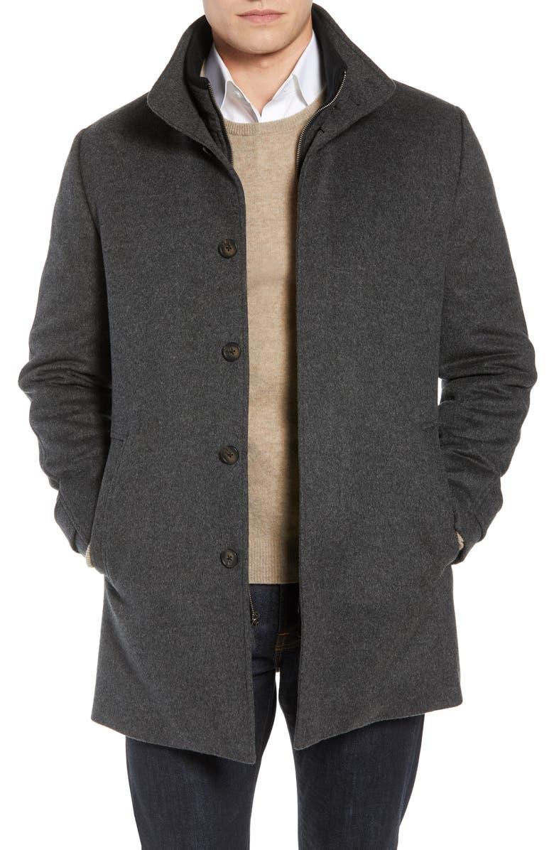 JOHN W. NORDSTROM<SUP>®</SUP> Hudson Wool Car Coat, Main, color, GREY
