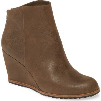 Linea Paolo Wesley Wedge Bootie- Brown